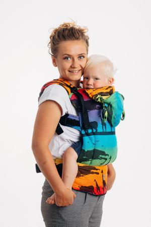 Marsupiu LennyGo Baby Size RAINBOW SAFARI 2.0 [1]
