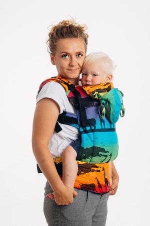 Marsupiu LennyGo Baby Size RAINBOW SAFARI 2.0 [0]