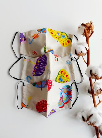 Masca din bumbac Umbrele Vesele- Femei [1]