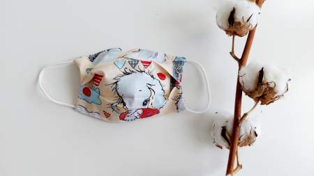 Masca din bumbac Elefanti- Copii [0]