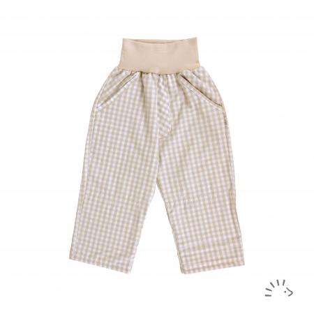 Pantaloni din bumbac organic- Iobio Popolini- Palermo Karo Sand Blue [0]