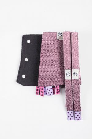 Protectii bretele LennyLamb - LITTLE HERRINGBONE OMBRE PINK [3]