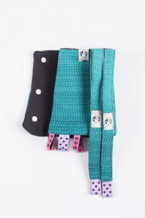 Protectii bretele LennyLamb - LITTLE HERRINGBONE OMBRE TEAL [3]
