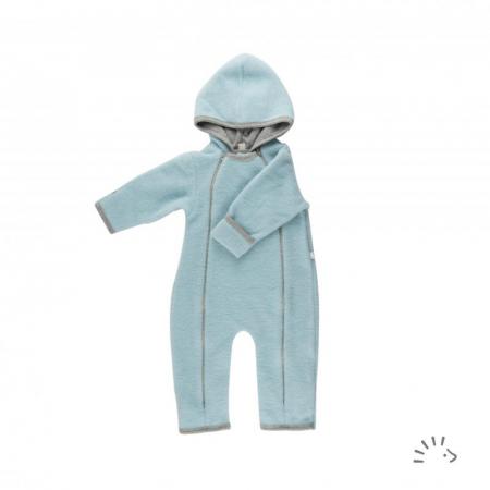 Salopeta Overall din lana merino fleece - Ice Blue [0]