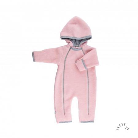 Salopeta Overall din lana merino fleece- Rose Pink [0]