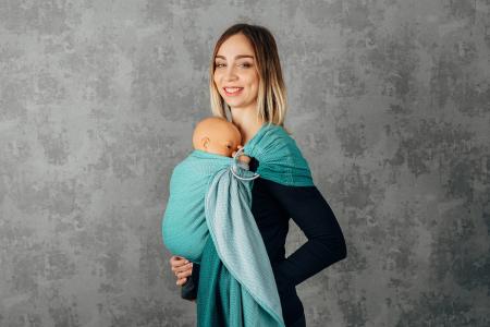 Sling cu inele LennyLamb Little Herringbone Turquoise [1]