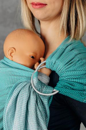 Sling cu inele LennyLamb Little Herringbone Turquoise [4]