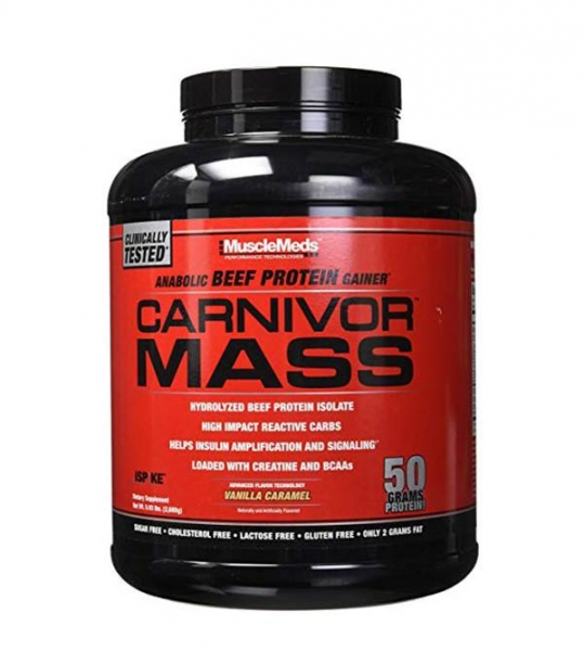 MuscleMeds Carnivor Mass Anabolic Beef Protein Gainer 2.7 kg 0