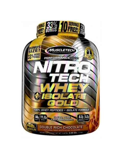 Nitrotech Whey Isolate Gold 4lb 1.8 kg 0