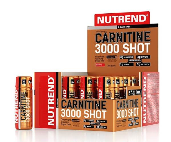 Nutrend L Carnitine 3000 Shot 20 shot-uri x 60 ml 0