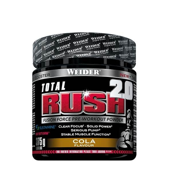 Weider Total Rush 2.0 Fusion Pre Workout 375 g 0