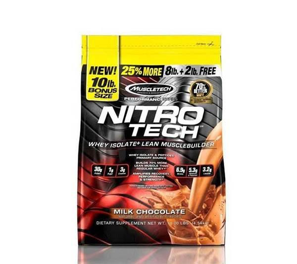 MuscleTech Nitrotech Whey Isolate 10lb 4.53 Kg 0