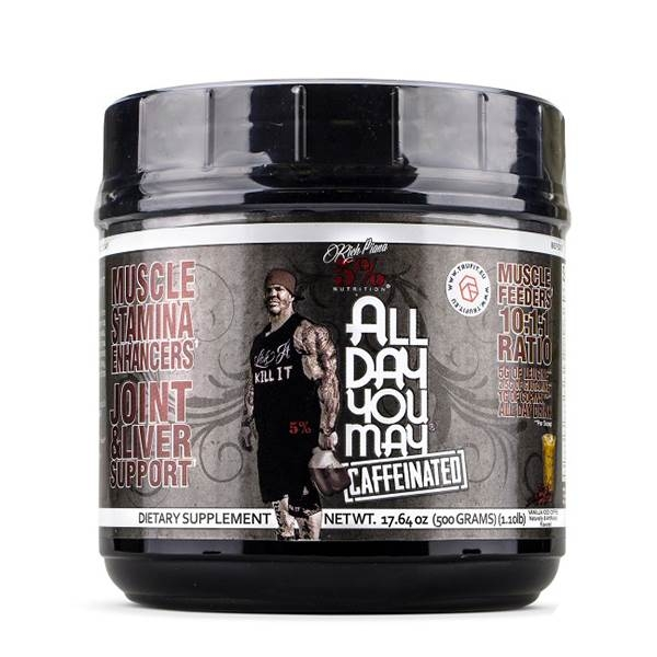Rich Piana all Day You May Caffeinated BCAA 10:1:1 0