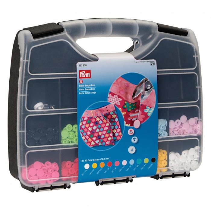 Set 300 capse plastic PRYM Color Snaps diametru 12,4 mm si poanson 12,4 mm 0