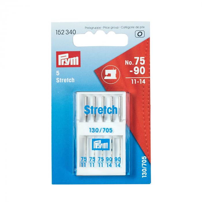 Ace varf bila PRYM, material elastic, 5 buc 130/705, finete 75 - 90 0