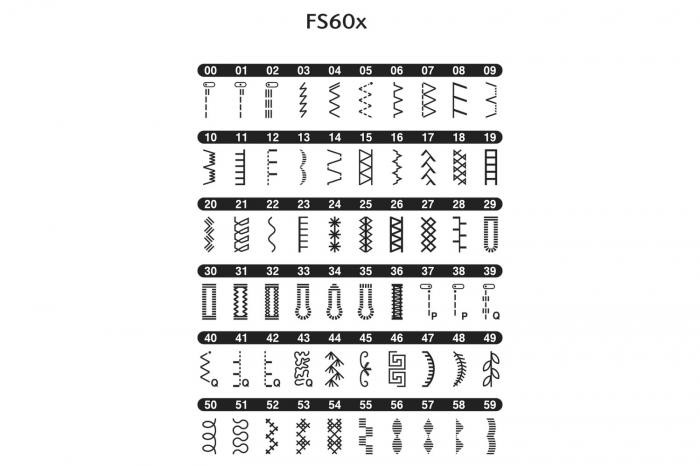 Brother FS60X, masina cusut computerizata, 60 cusaturi, 7 butoniere automate, comenzi electronice 2