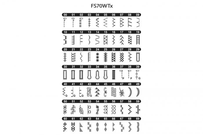 Brother FS70WTX, masina cusut computerizata, 70 cusaturi, masa extensie inclusa, comenzi electronice [2]
