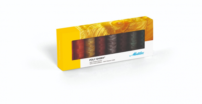 Ata Brodat Mettler Poly Sheen Kit Autumn, set 8 buc, No.40/200m 0