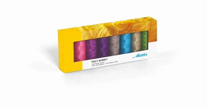 Ata Brodat Mettler Poly Sheen Kit Brights, set 8 buc, No.40/200m 0