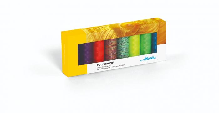 Ata Brodat Mettler Poly Sheen Kit Neon, set 8 buc, No.40/200m 0