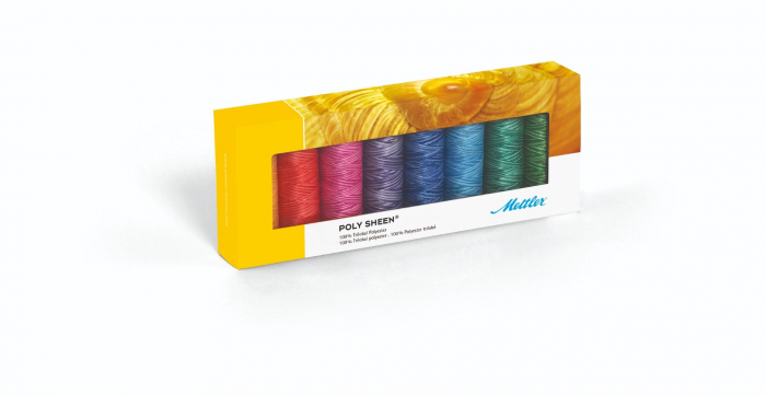 Ata Brodat Mettler Poly Sheen Kit Pastel, set 8 buc, No.40/200m 0