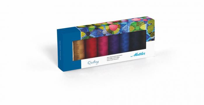 Ata Cusut si Quilting Mettler Coton Silk-Finish, Set 8 buc, No.40/150m [0]