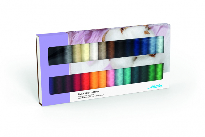 Ata Cusut si Quilting Mettler Coton Silk-Finish, Set 28 buc, No.50/150m [0]