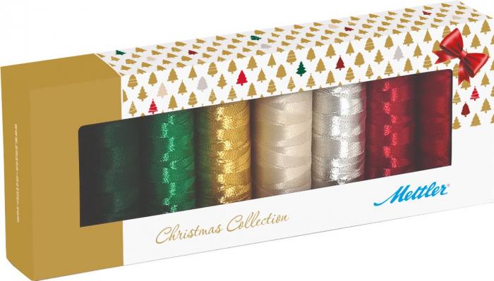 Ata Brodat Mettler Poly Sheen Kit Christmas, set 8 buc, No.40/200m 0