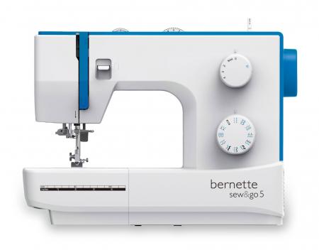 Bernette Sew&Go 5, masina cusut electromecanica, 23 cusaturi, pas reglabil0