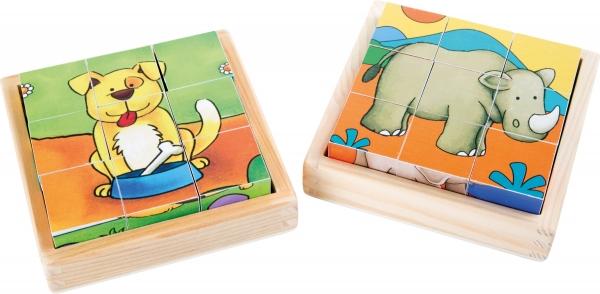 Cuburi puzzle Zoo-Ferma Set de 2 1