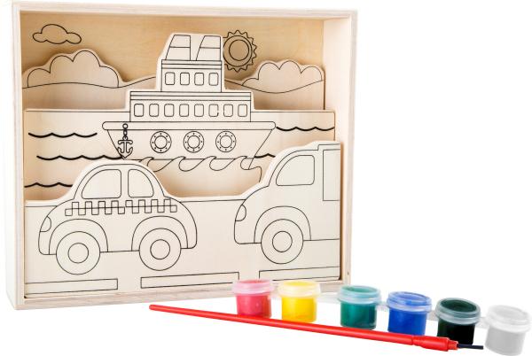 Set de pictat pe lemn Vehicule 1
