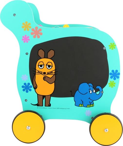 Antemergator din lemn cu activitati educative Elefant si Soricel 4