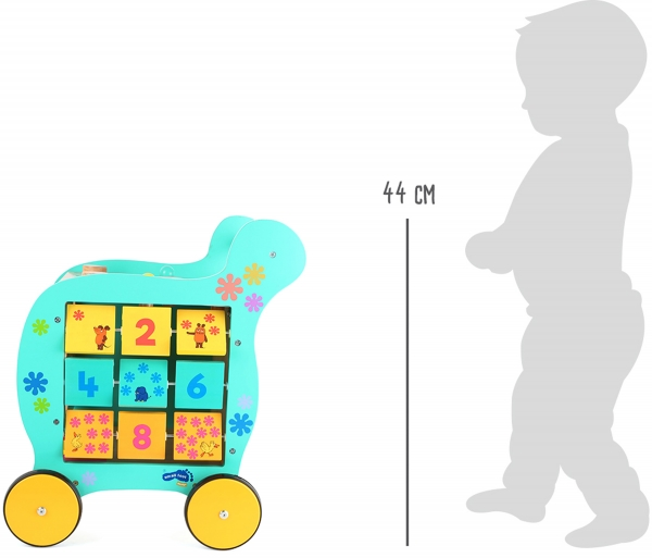 Antemergator din lemn cu activitati educative Elefant si Soricel 8