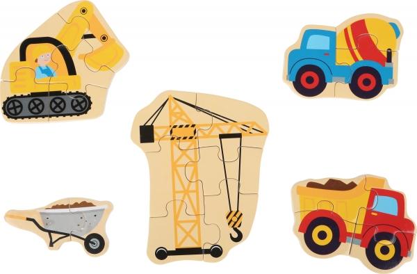 Set 5 puzzle-uri Utilaje constructie 1