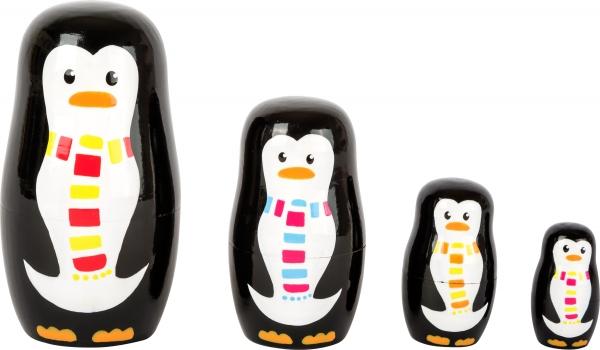 Familia de pinguini Matryoshka 0