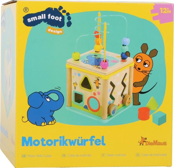 Cub din lemn cu 5 activitati educative Elefant si Soricel 2