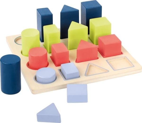 Forme si culori, puzzle 3D din lemn 0