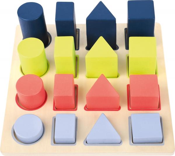 Forme si culori, puzzle 3D din lemn 5
