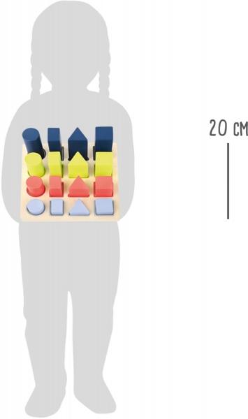 Forme si culori, puzzle 3D din lemn 6