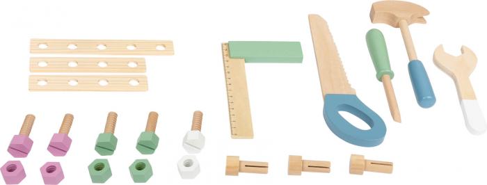 Banc de lucru din lemn, cu unelte, Nordic 2