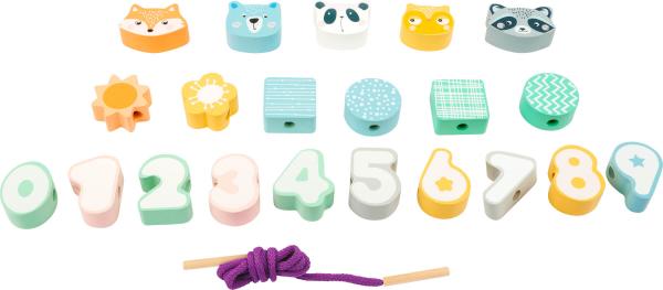 Joc de snuruit Animale, Forme, Cifre in culori pastelate 1