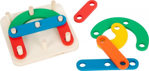 Sa construim cifrele si literele, joc educativ din lemn 0