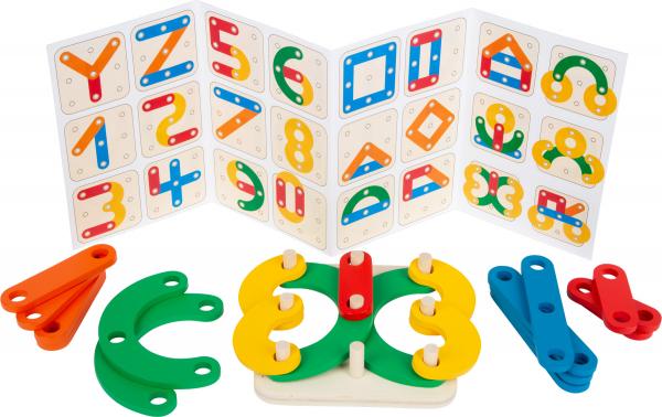 Sa construim cifrele si literele, joc educativ din lemn 3