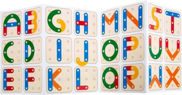 Sa construim cifrele si literele, joc educativ din lemn 2