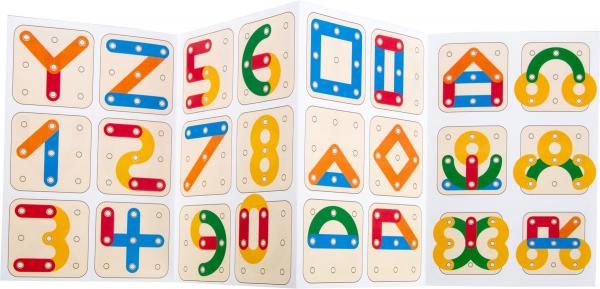 Sa construim cifrele si literele, joc educativ din lemn 6