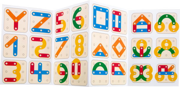 Sa invatam cifrele si literele, joc educativ din lemn 6