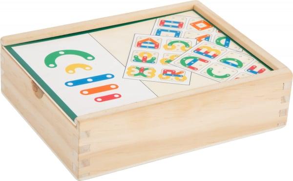 Sa construim cifrele si literele, joc educativ din lemn 7