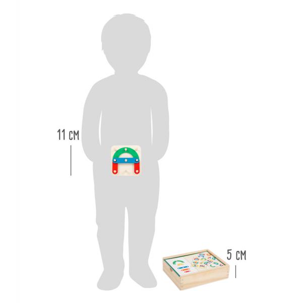 Sa construim cifrele si literele, joc educativ din lemn 8