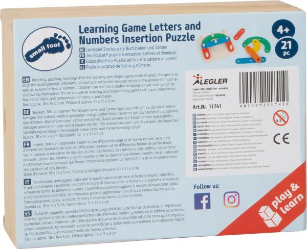 Sa invatam cifrele si literele, joc educativ din lemn 9