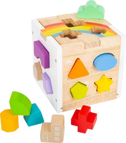 Cub sortator din lemn Curcubeu 0